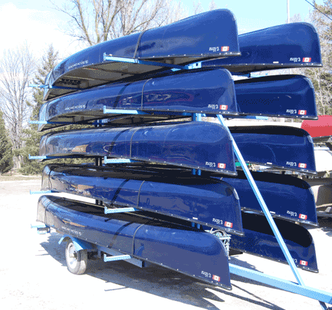 Fleets of canoes